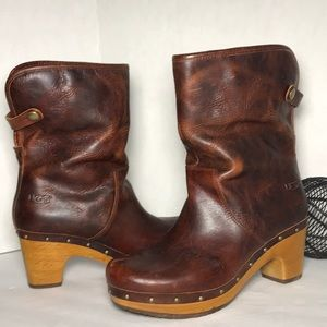 UGG AUSTRALIA Chestnut Brown Gray Ankle Booties